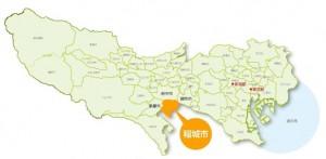 稲城市の位置